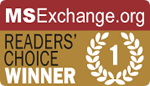 MSExchange.org Readers' Choice Winner