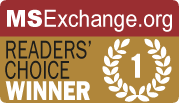 MSExchange.org Readers Choice Award Winner