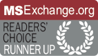 MSExchange.org Readers' Choice Runner up