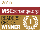 Logo für MSExchange.org Readers Choice Award 2010